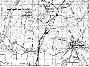 Variant North Of Emmett followed Gradual Elevations